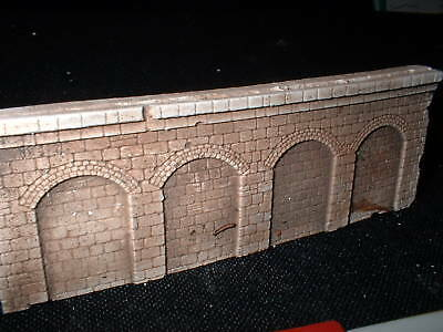 Z Scale/ Z Scale Stone Arched  Wall X 4-  Unpainted -white Ready For U To Colour • 4.30€