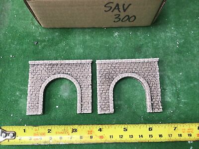 N Scale Tunnel Portals X 2 -Single Track -Stone Style,Painted SAV300 • 3.12€