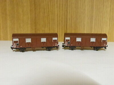 2 Wagons  Couvert  SNCF Echelle N • 22€