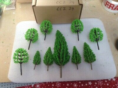 OO/HO Scale   Set Of 10 Trees , Forest, Foliage, Scenery, 2 Tree Types (CCZ24) • 6.93€
