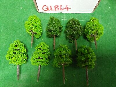 OO/HO Scale   Set Of 8 Trees , Forest, Foliage, Scenery, 3 Tree Types (QLB64)  • 5.54€