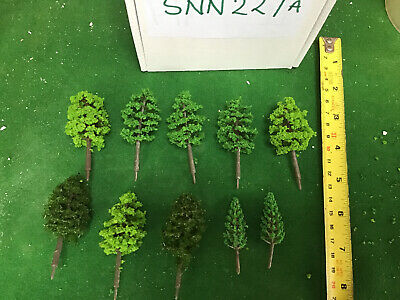 OO/HO Scale   Set Of 10 Trees , Forest, Foliage, Scenery, 2 Tree Types (sNN227a) • 6.93€