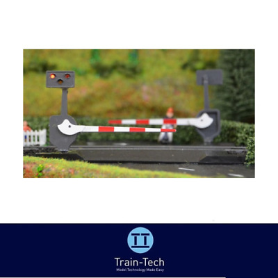 Train-Tech LC10 Level Crossing Barrier Set With Light & Sound (Single) OO Gauge • 27.11€