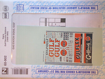 Microscale Décalque N #60-902 Gulf Service Station-Gas Station Signaux (Sticker) • 5.32€