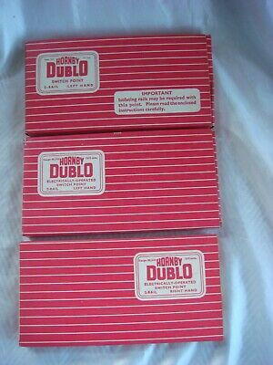 Three Sets Of Hornby Dublo Points - 2729, 2731 And 2732 All Boxed • 11.16€
