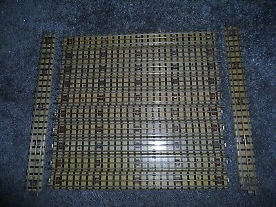 12 Hornby Dublo Oo Gauge 3 Rail Full Straight Tracks With Oval Connectors • 8.93€