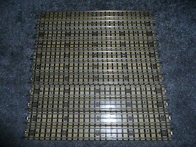 11 Early Hornby Dublo Oo Gauge 3 Rail Full Straight Tracks With Logo On Top • 8.93€