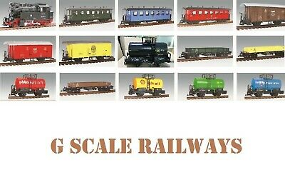 BRAND NEW G SCALE 45mm GAUGE MODEL RAILWAY TRAINS LOCOS ROLLING STOCK TRUCKS • 26.22€