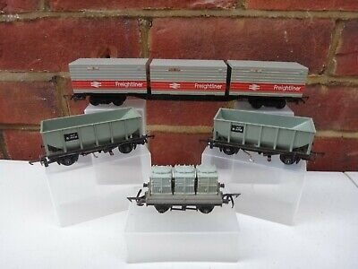 Triang Mineral Wagons,container Freightliner & Flat Wagon Oo Gauge • 9.62€