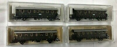 Lot 4 Wagons FLEISCHMAN Modelisme Echelle N Reproduction Collections Anciens P81 • 17.50€