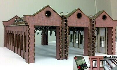 Modelux OO Gauge Victorian Engine Shed KIT - 3 Road Modular - WITH GLAZING PACK • 1.13€