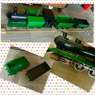 """Hand Made Metal Steam Train And Trailers Length 51"""" Unfinished As No Engine • 578.06€"""