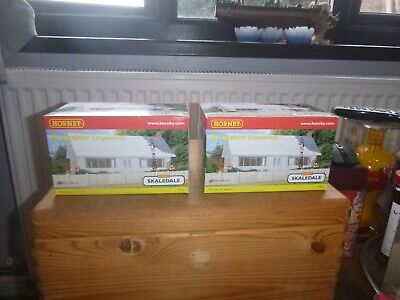 Two Brand New Hornby Boxed Skaledale Unpainted Resin Bungalows • 1.14€