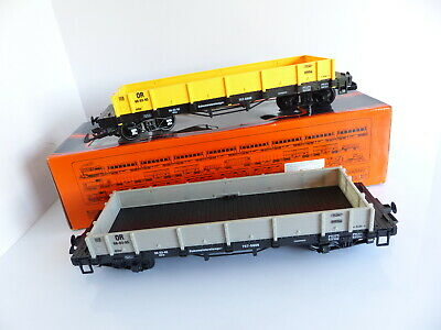 Train Echelle G 757-5805 / 2 Wagons Plat A Bogies • 60€