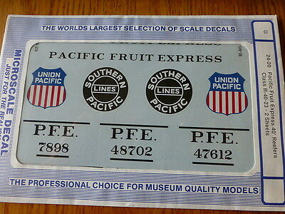 Microscale G 24-20 Pacific Fruits Express 12.2m Reefers Classe R 40 23 ( 2 Draps • 12.27€