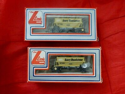 2 X Lima 305636w Oo Gauge Arc Amey Roadstone Hopper Wagons Ar 14228 – Boxed • 16.17€