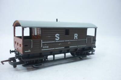 HORNBY 00 Gauge SOUTHERN RAILWAYS BRAKE VAN - BROWN - R029,                    C • 6.69€