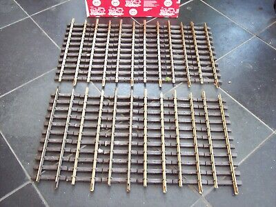 12 LGB 10000 G SCALE MODEL RAILWAY 300mm BRASS TRACK STRAIGHTS - BOXED • 39.90€