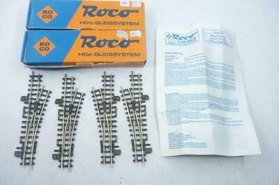4 X ROCO HOe Gauge LEFT & RIGHT HAND POINTS - 32410 BOXED,                     N • 17.04€