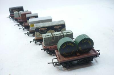 8 X HORNBY/TRIANG 00 Gauge BR BOLSTER WAGONS With LOADS,                       Q • 22.72€