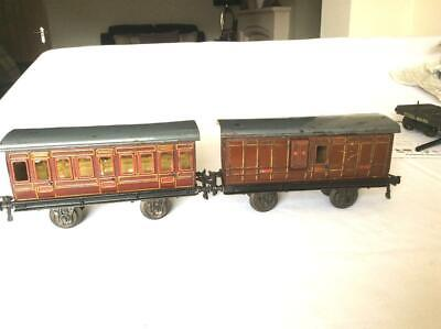 Pair Bing Gauge 1 Early Midland Railway Coaches In Generally Good Condition • 196.89€
