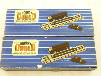2 X HORNBY DUBLO 3 RAIL ELECTRICALLY OPERATED UNCOULPERS - EUBR BOXED,         K • 16.77€