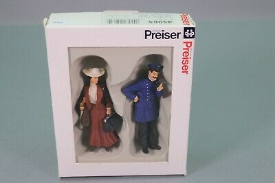 ZS022 Preiser Train G 45065 Figurine Controleur Dame Conductor Lady Schaffner • 27.49€