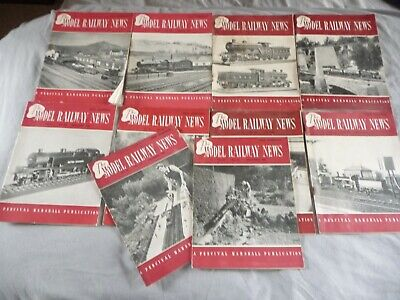 10 Vintage 1950 The Model Railway News  Magazines - Good Clean Condition! • 3.37€