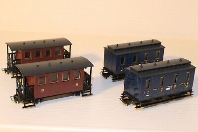 009 / HOe Eggerbahn 4 Wheel Coaches X 4 --- Boxed V41 V43 • 70.27€