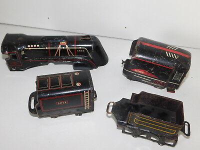 à RESTAURER Vintage Ancien WAGON Locomotive TRAIN JOUETS JEP Eclair SNCF Tin TOY • 40€