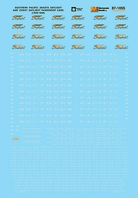 MicroScale 871055 Decal H0 - Southern Pacific Daylight Gray Lettering (87-1055) • 9.40€