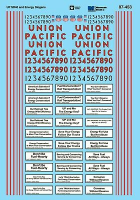 MicroScale 87453 Decal H0 - Union Pacific SD40-2 Incl. Slogans 1980+ (87-453) • 9.40€