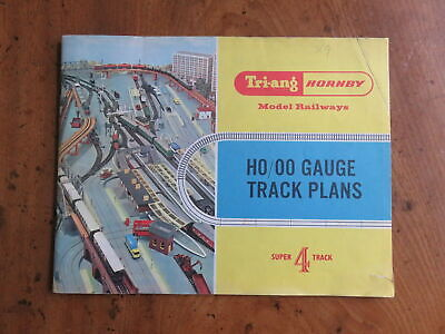 Tri-ang Hornby HO/OO Track Plans For Super 4 Track - VGC • 9.06€